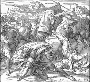 Saul falls on his sword