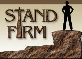 Image result for standing firm with