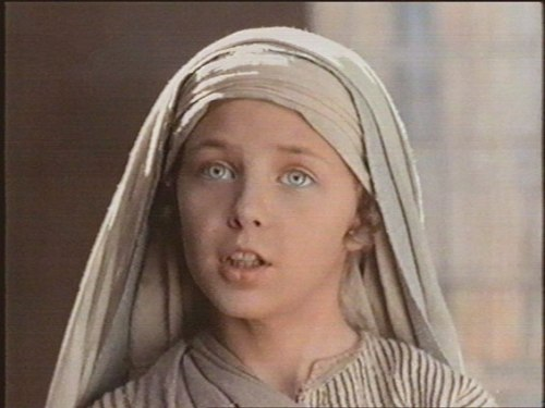 "Jesus at 12, as imagine by Franco Zeffirelli's 1977's ""Jesus of Nazareth.""  We doubt He really had blue eyes."