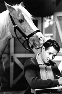 This is Mr Ed, a talking horse.  A horse can't really talk, of course.  But a donkey did one time, to a man  named Balaam.