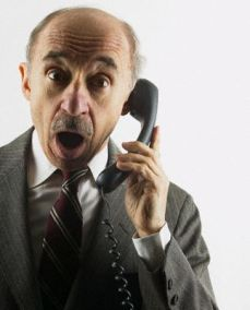 Shocked Senior Man on Telephone