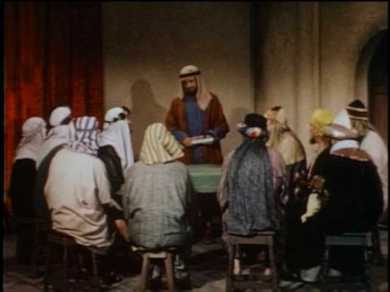 A re-enactment of the Jerusalem Council from the 1957 production, The Living Bible: Acts